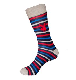 Playboy Mens Striped Playboy Socks