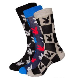 Playboy Mens All Over Logo Playboy Socks