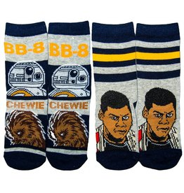 Star Wars Kids BB-8, Chewie & Finn Socks 2 Pair Pack