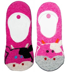 World of Hosiery Kids Animal Liner Socks Cow