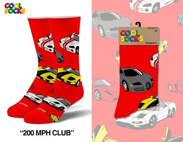 Cool Socks Cool 200 MPH Club Mens Socks
