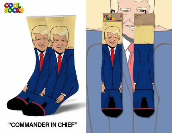 Cool Socks Cool Commander In Chief Trump Socks 360 Mens Socks