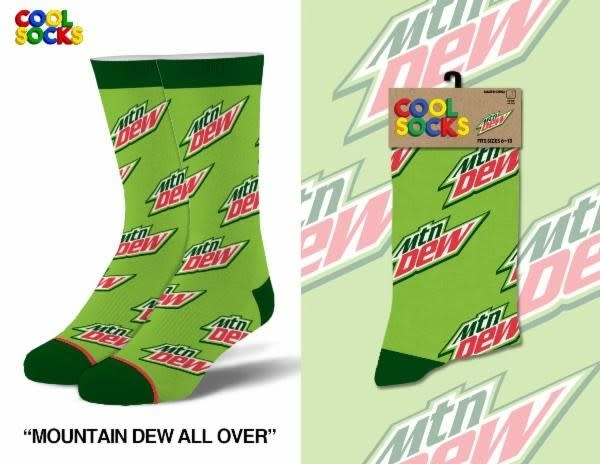 Cool Socks Cool Mountain Dew All Over Mens Socks