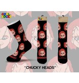 Cool Socks Cool Chucky Heads Mens Socks