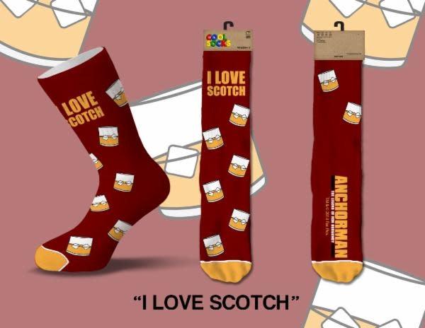 Cool Socks Cool I Love Scotch Mens Socks