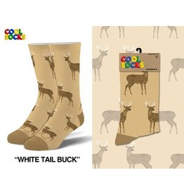 Cool Socks Cool White Tail Buck Mens Socks
