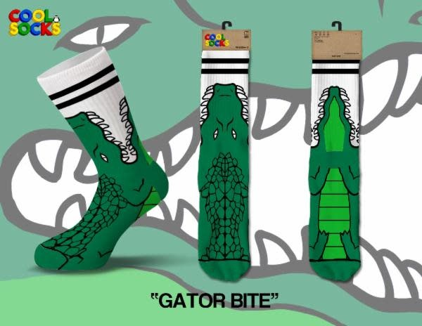 Cool Gator Bite Socks Mens Socks