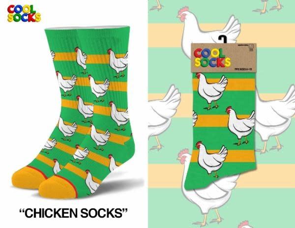 Cool Socks Cool Chicken Socks LRG