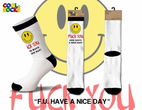 Cool Socks Cool F.U. Have a Nice Day Mens Socks