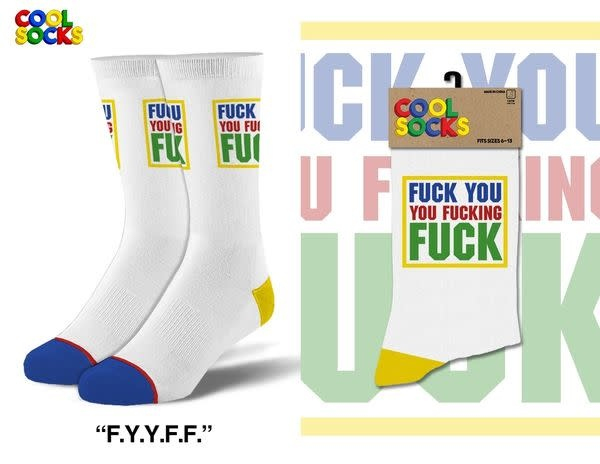 Cool Socks Cool Fuck You Fucking Fuck  Mens Socks