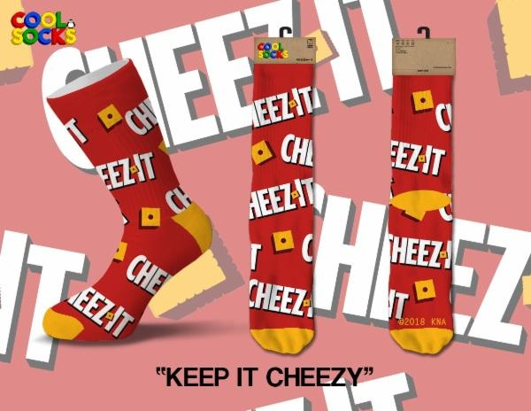 Cool Socks Cool Socks Keep It Cheezy Men