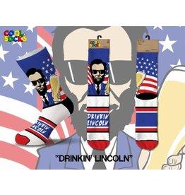 Cool Socks Cool Drinkin' Lincoln Mens Socks