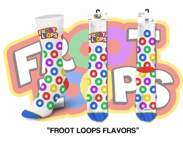 Cool Socks Cool Froot Loops Flavors Womens Socks