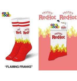 Cool Socks Cool Franks Red Hot Logo Womens Socks
