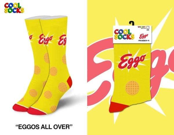 Cool Socks Cool Eggo Waffles MED