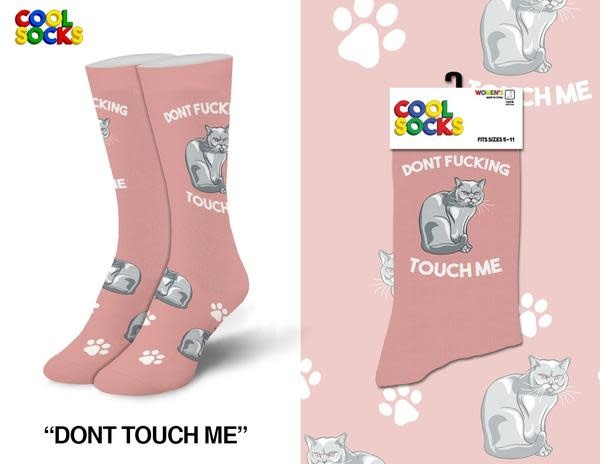 Cool Socks Cool Don't Touch Me Womens Socks