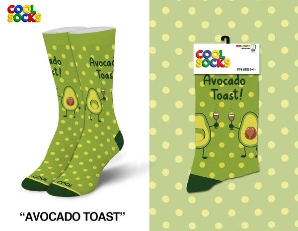 Cool Socks Cool Avocado Toast Womens Socks