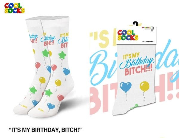 Cool Socks Cool Birthday Bitch Womens Socks
