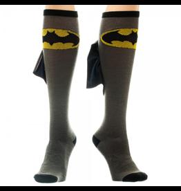 Batman Grey/Blk Shiny Cape Knee High