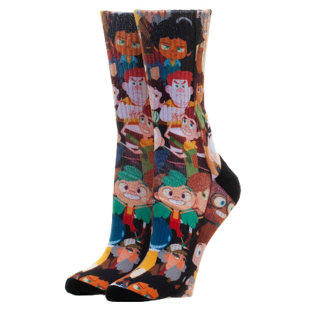 Camp Camp Characters Crew Socks One Size Fits Most