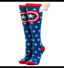 Captain America W/Wings Womens Knee High Socks
