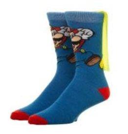 Mens Super Mario Bros. Socks W/Cape