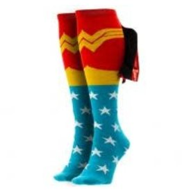 Wonder Woman Shiny Cape Knee High Womens Sock