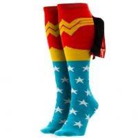 Wonder Woman Shiny Cape Knee High Womens Sock