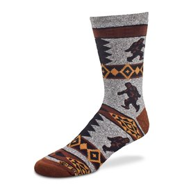 Bigfoot Blanket Motif Socks Mens
