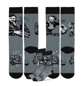 Bonnie & Clyde Mismatched Socks One Size Fits Most