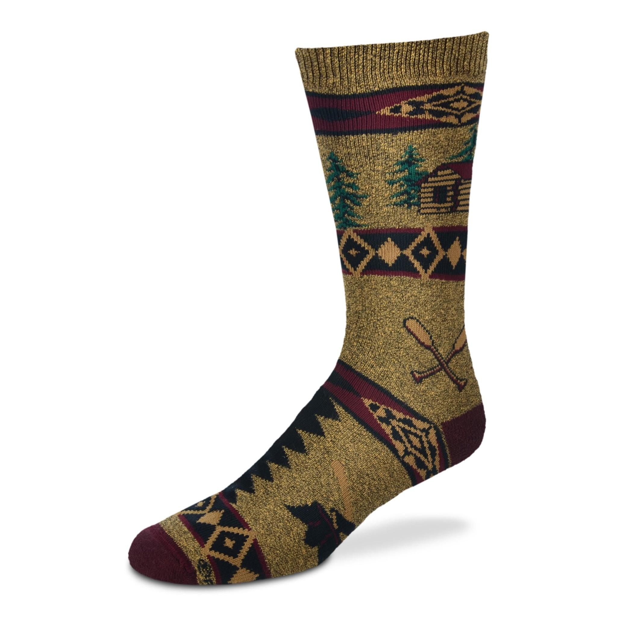 Cabin Blanket Motif Socks Mens