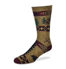 Cabin Blanket Motif Socks Womens