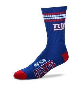For Bare Feet Mens NFL New York Giants Team Socks w/Stripes LG