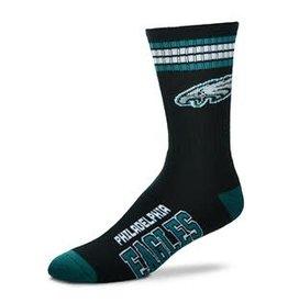 For Bare Feet Mens NFL Philadelphia Eagles Team Socks w/Stripes LG