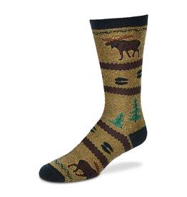 For Bare Feet North Woods Moose Socks Mens