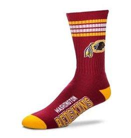 For Bare Feet NFL Washington Redskins Socks w/Stripes Mens