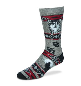 Wolf Blanket Socks Mens