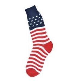 Foot Traffic Mens American Flag Socks