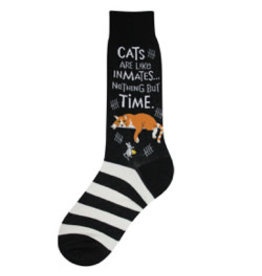 Foot Traffic Mens Cat Inmate Socks