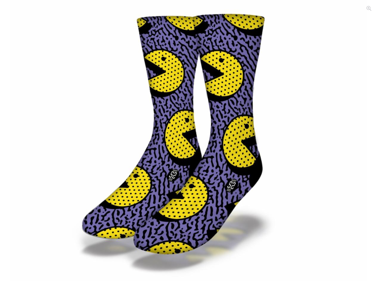 Savvy 90's Pac Man Socks Women