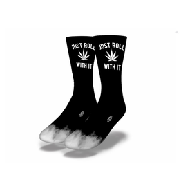 Savvy Just Roll With It Weed Socks Men