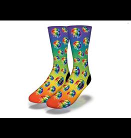 Savvy LGBTQ Rainbow Lip Socks Women