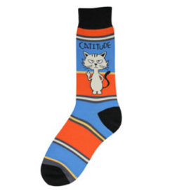 Foot Traffic Mens Catitude Socks