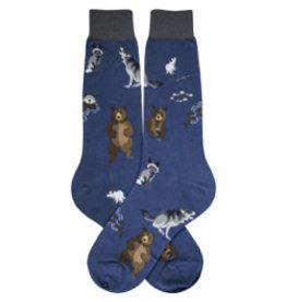 Foot Traffic Mens Furry Friends Socks