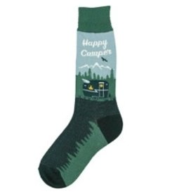 Foot Traffic Mens Happy Camper Socks