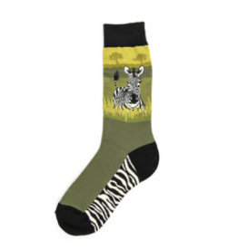 Foot Traffic Mens Zebra Socks