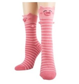 Foot Traffic Womens 3-D Pig Socks