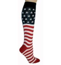 Foot Traffic Womens Knee High American Flag Socks
