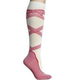 Foot Traffic Womens Ballet Shoe Knee High Socks
