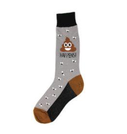 Foot Traffic Womens Poop Happens Socks